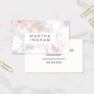 Modern Painted Cream and Beige Abstract Design Business Card