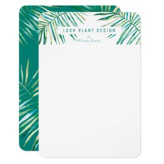 MODERN PALM LEAF LOGO lush botanical life green Card