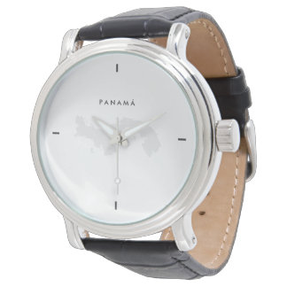 Modern: Panama Map Wristwatch