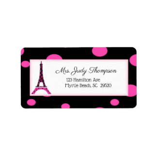 Modern Paris France Eiffel Tower Address Labels