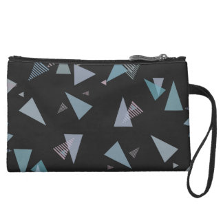 Modern pastel color triangle Cosmetic Bag
