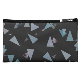 Modern pastel color triangle Medium Cosmetic Bag