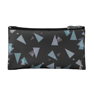 Modern pastel color triangle Small Cosmetic Bag
