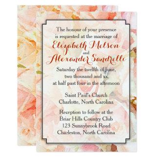 Modern Pastel Peach Wedding Invitation