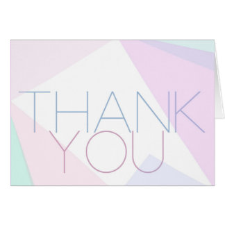 Modern Pastel Thank You Note Note Card