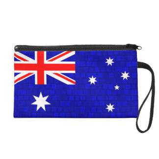Modern Pattern Australian Flag Wristlet Purse