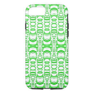 Modern Pattern Dividers 07 Green Custom BG White iPhone 8/7 Case