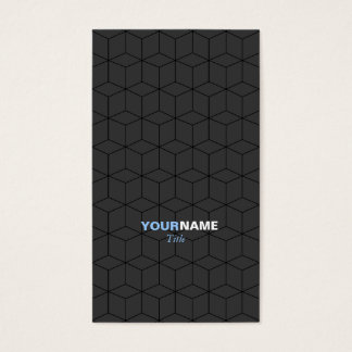 Modern Pattern Gray Business Card