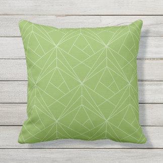 Modern Pattern Green Outdoor Throw Pillow