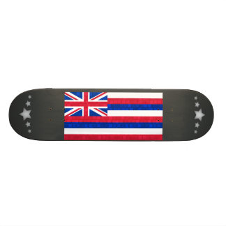 Modern Pattern Hawaiian Flag Custom Skate Board