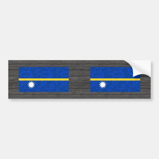 Modern Pattern Nauruan Flag Bumper Sticker