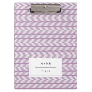 Modern Pattern Personalized Clipboard - Lilac