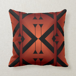 Modern Pattern Pillow-Home -Burnt Orange/Black Cushion