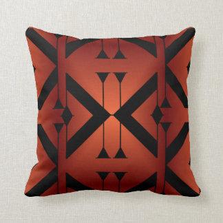 Modern Pattern Pillow-Home -Copper/Black Throw Pillow