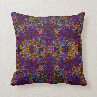 Modern Pattern Pillow on Purple, Orange, Blue
