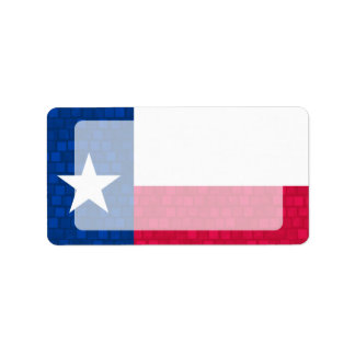 Modern Pattern Texan Flag Label