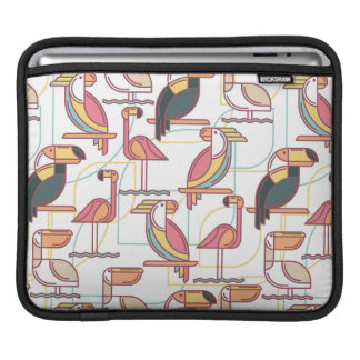 Modern Pattern With Tropical Birds Sleeve For iPads