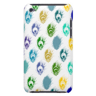 Modern Peacock feathers print art Barely There iPod Cases