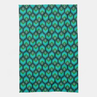 Modern Peacock Pattern Towels