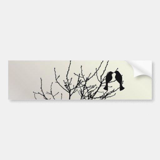 Modern Pearl LoveBirds Tree WeddingFavor Bumper Stickers