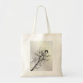 Modern Pearl LoveBirds Tree WeddingFavor Budget Tote Bag