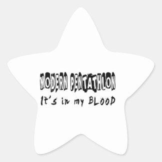 Modern Pentathlon It's in my blood Star Sticker