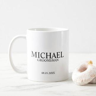 Modern Personalized Groomsman Coffee Mug