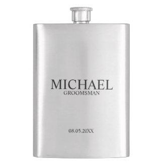 Modern Personalized Groomsman Flasks