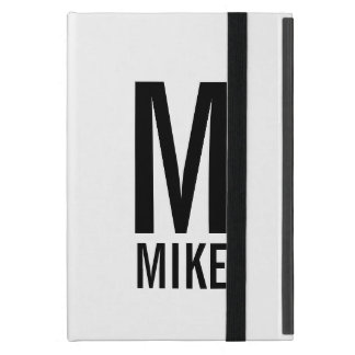 Modern Personalized Monogram and Name Cover For iPad Mini