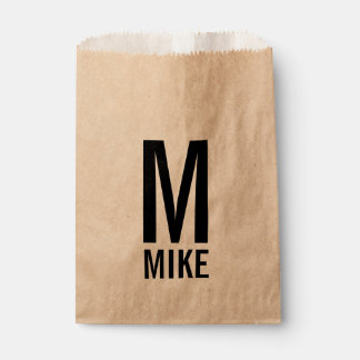 Modern Personalized Monogram and Name Favour Bag