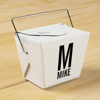 Modern Personalized Monogram and Name Favour Box