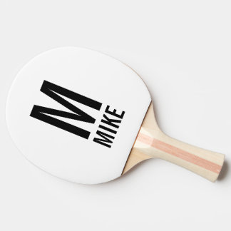 Modern Personalized Monogram and Name Ping Pong Paddle