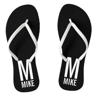 Modern Personalized Monogram and Name Thongs