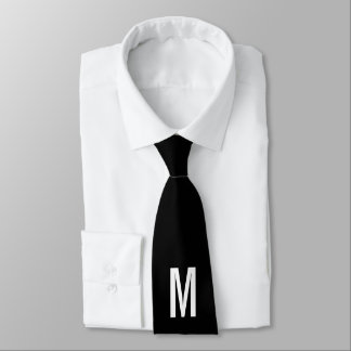 Modern Personalized Monogram and Name Tie
