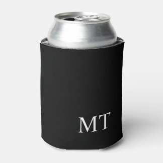 Modern Personalized Monogram Can Cooler