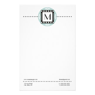 Modern Personalized Monogrammed Stationery