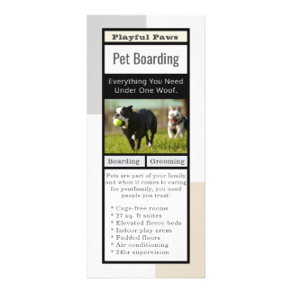Modern Pet Boarding Rack Card