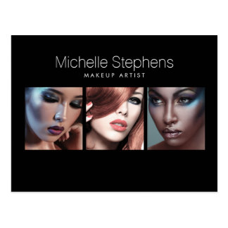 Modern Photo Card for Makeup Artists, Stylists II Postcard