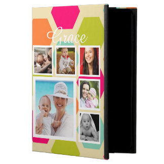 Modern Photo Collage Hexagon Pattern Personalized Powis iPad Air 2 Case