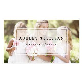 Modern Photo Overlay   Photography Business Card