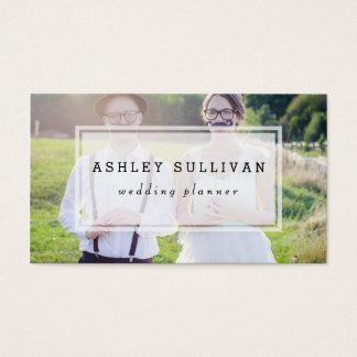 Modern Photo Overlay   Wedding Business Card