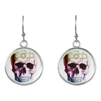 Modern Photo Skull Earrings