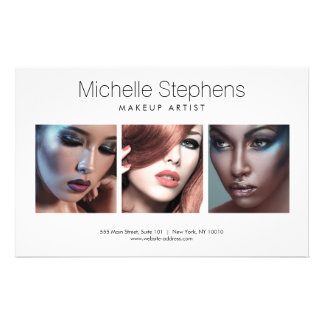Modern Photo Trio for Makeup Artists, Stylists 14 Cm X 21.5 Cm Flyer