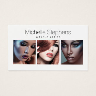 Modern Photo Trio for Makeup Artists, Stylists Business Card