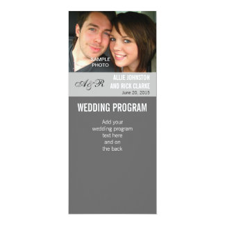 Modern Photo Wedding Programs 10 Cm X 24 Cm Invitation Card