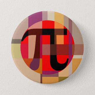 Modern Pi Composition, Geometric 7.5 Cm Round Badge