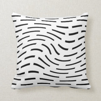 modern pillow abstract pattern  black and white
