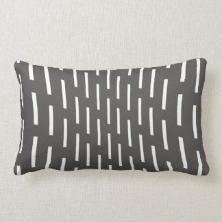 modern pillow abstract pattern grey and white