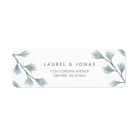 Modern Pine Green + White Return Address Labels
