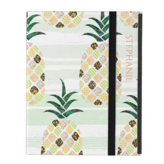 Modern Pineapple Pattern iPad Case